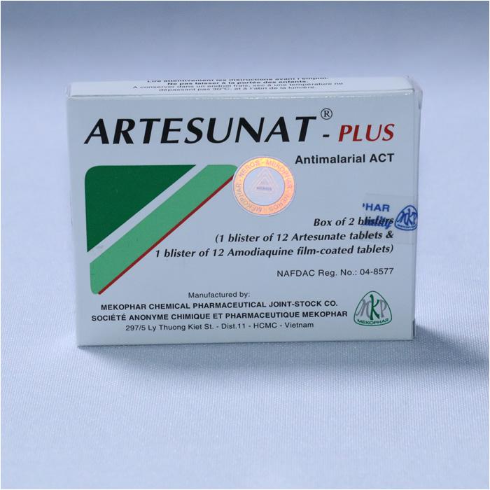 ARTESUNATE + AMODIAQUINE (ARTESUNAT-PLUS) 1 x 12