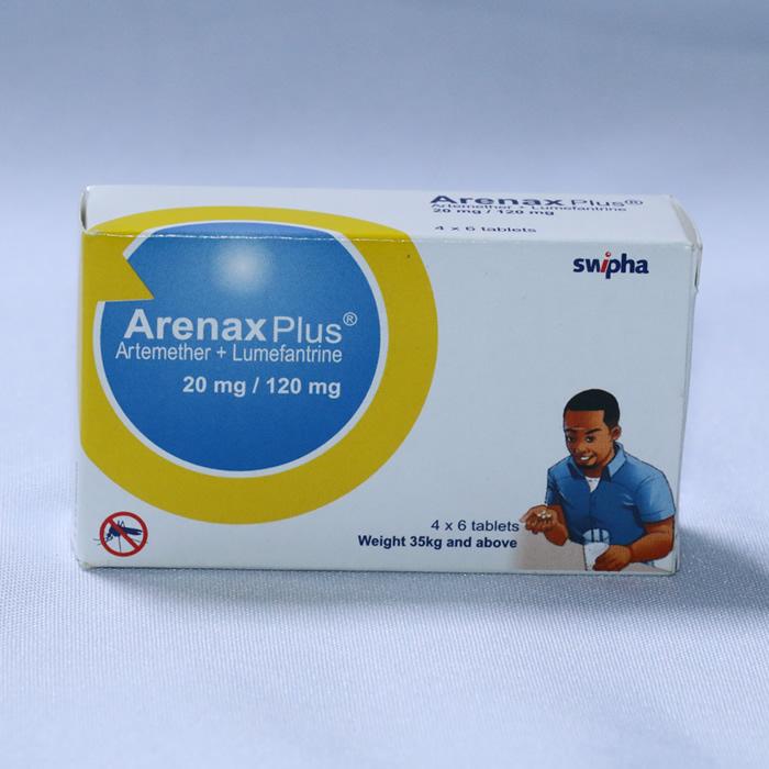 ARTHEMETHER + LUMEFANTRINE 20/120mg x 24 ( ARENAX PLUS )