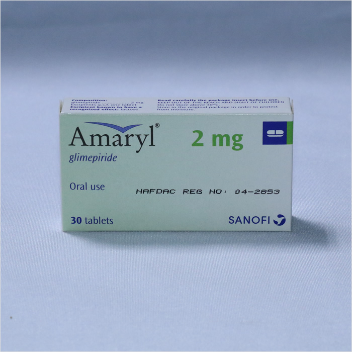 AMARYL  2MG 1 x 30 tablets