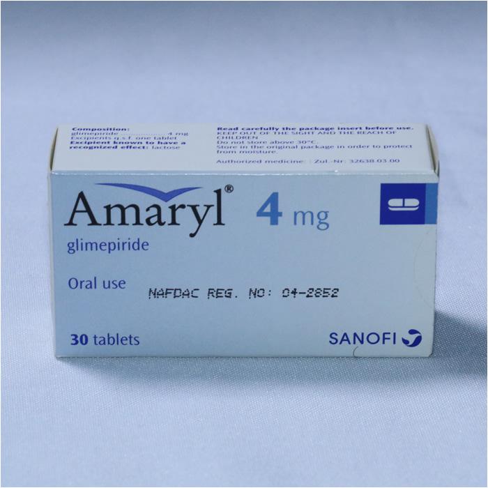 AMARYL 4MG 1 x 30 tablets
