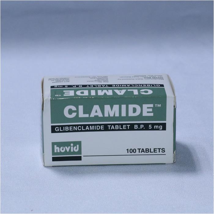 Glibenclamide 5mg x 100 (CLAMIDE)